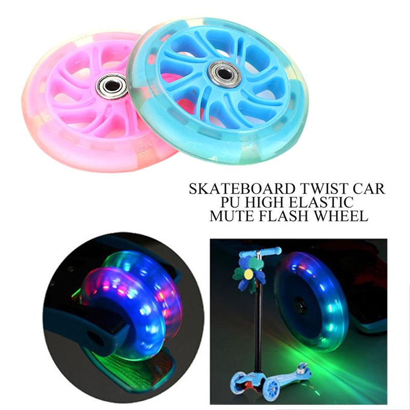 Portable Scooter Wheel Casters 2 Color Single Warping Slide Longboard Shopping Cart Skateboard Wheel Practical 120mm Durable