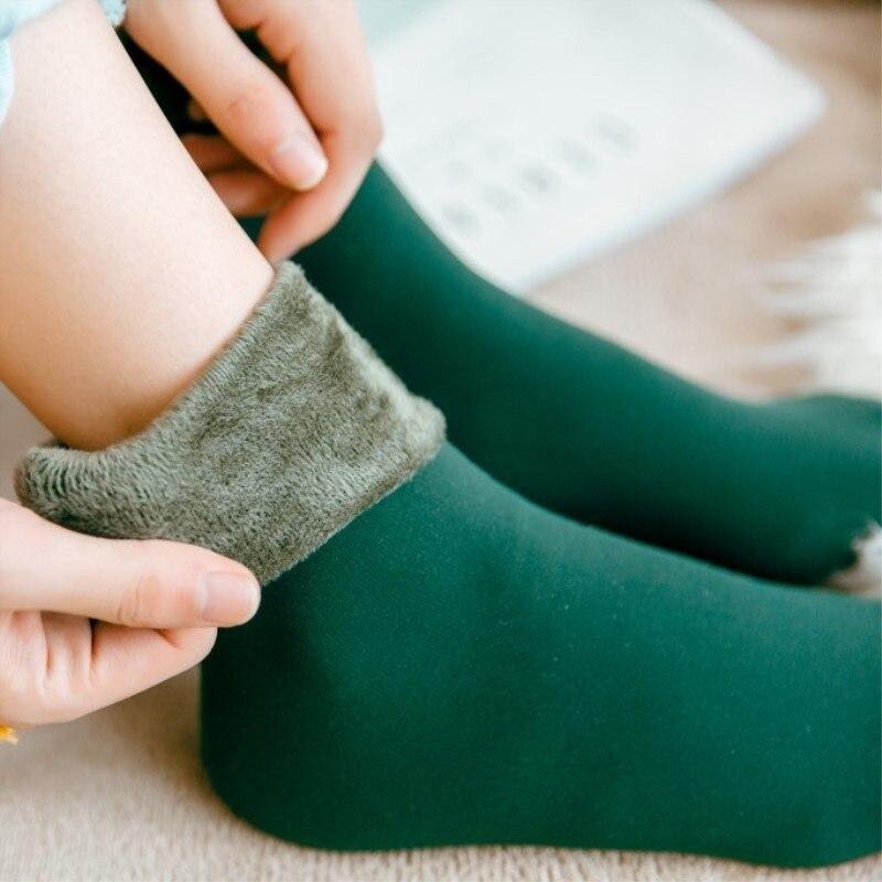 Svokor 13 cores quentes meias para mulheres inverno mais veludo de alta qualidade skarpetki unisex confortável dormir meias grossas