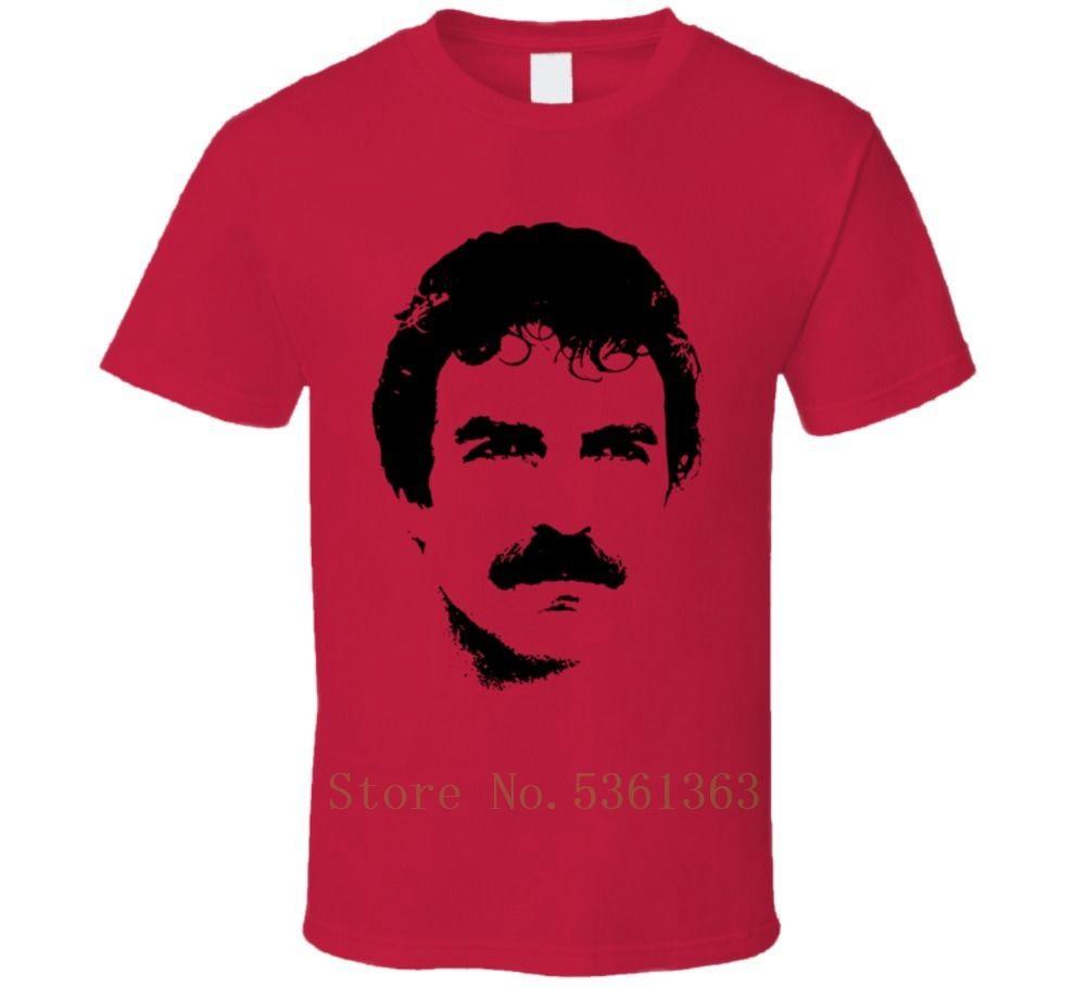 Magnum PI retro tv Tom Selleck camiseta Cool envío gratis pride camiseta hombres casual nueva camiseta Unisex tops de moda ajax