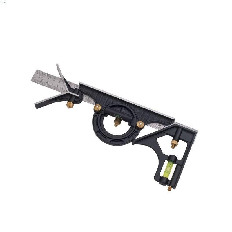 """Transportador de combinación de 12 """", regla tri-Ángulo Cuadrado, maquinaria, herramientas de medición de acero inoxidable, profesional L29K"""