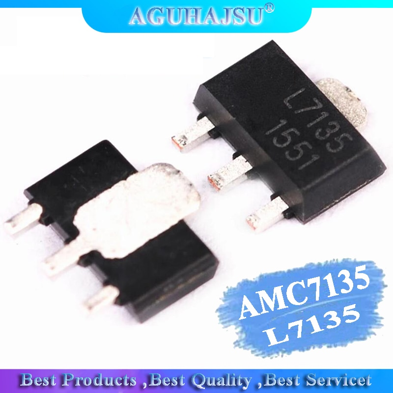 10 Uds AMC7135PKFT SOT89 AMC7135 MEL7135 SOT nuevo y original