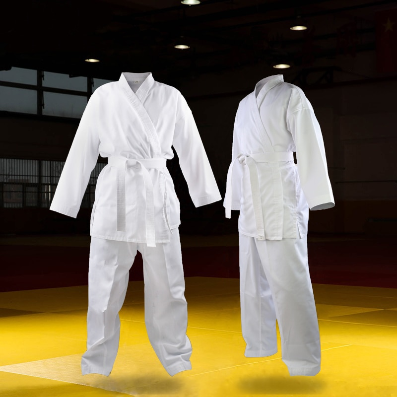 Calidad Dobok niño adulto uniforme de karate traje WTF Judo patada de Taekwondo boxeo marcial MMA arte ropa de entrenamiento dobok kimono