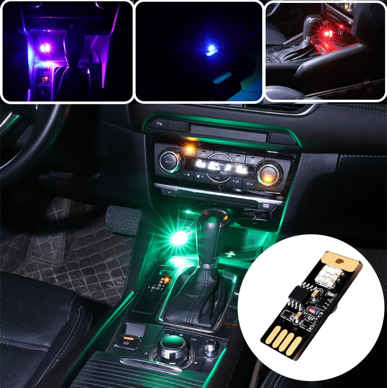 Car Interior USB Mini Led Light For Mercedes Benz GLE GLK SLK SLS W166 W176 W204 W207 W212 W218 W245 W251 W463 W203 Accessories