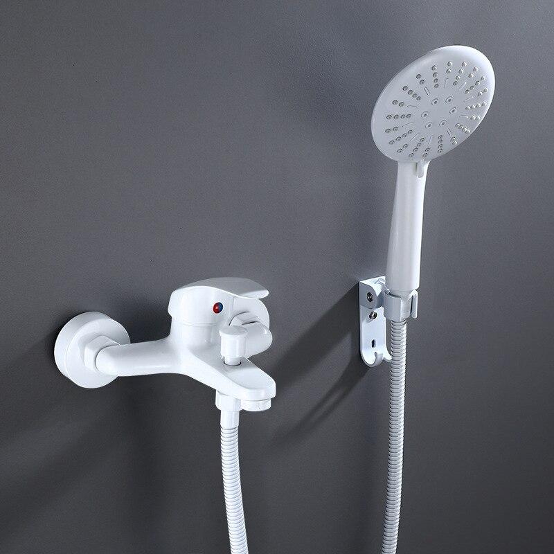 Смесители Для ванны и душа белого цвета водопад носик с ручным душем смеситель