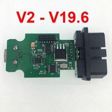 OBD COM câble dinterface USB V17.8 V2 18.9 19.6.1 OBDII 16pin hexagonal pour audi vw seat skoda allemand/danois/néerlandais multilingue