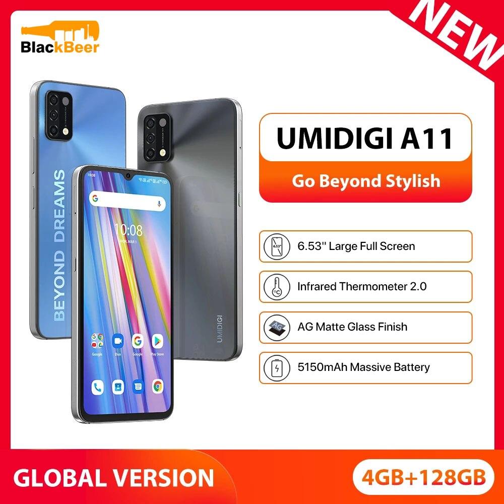 UMIDIGI A11 6.53 Inch MobilePhone 4GB 128GB Helio G25 Smartphone  Android 11 16MP Triple Camera Cellphone 5150mAh Global Version