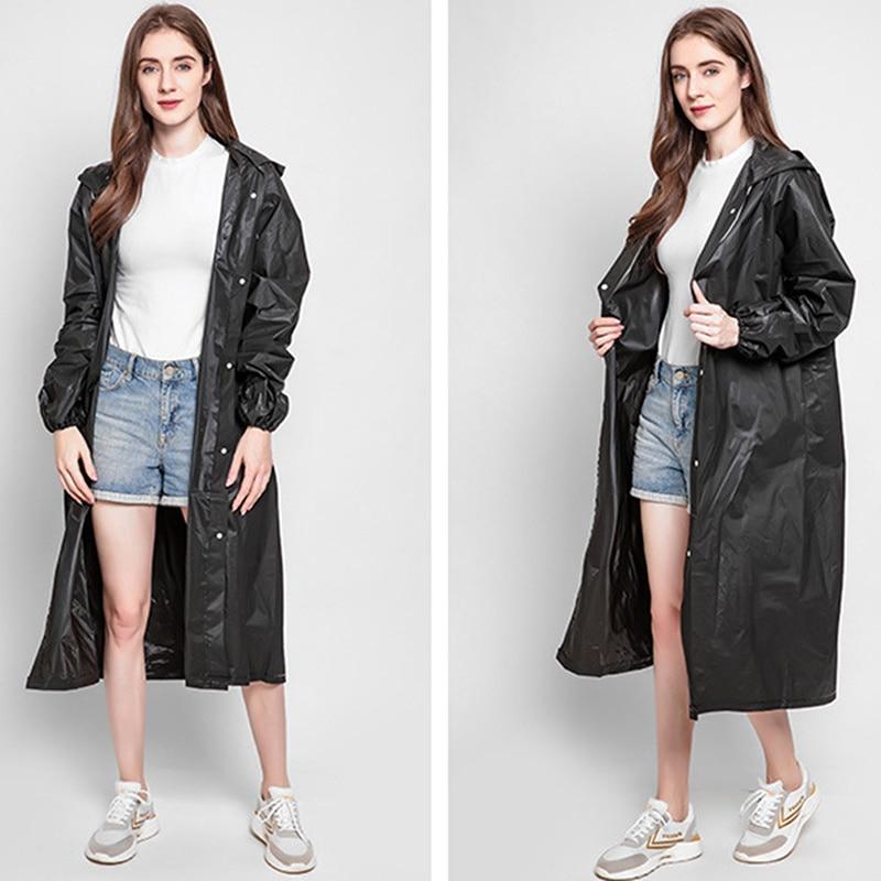 Fashion Women Man Raincoat Adult Clear Transparent Camping Hoodie Rainwear Suit Thickened Waterproof Rain Poncho Coat