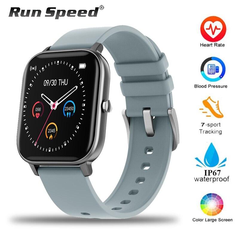 P8 relógio smartwatch unissex, relógio inteligente, totalmente touch, monitoramento de atividades esportivas, monitor cardíaco, a prova d água ip67, para xiaomi