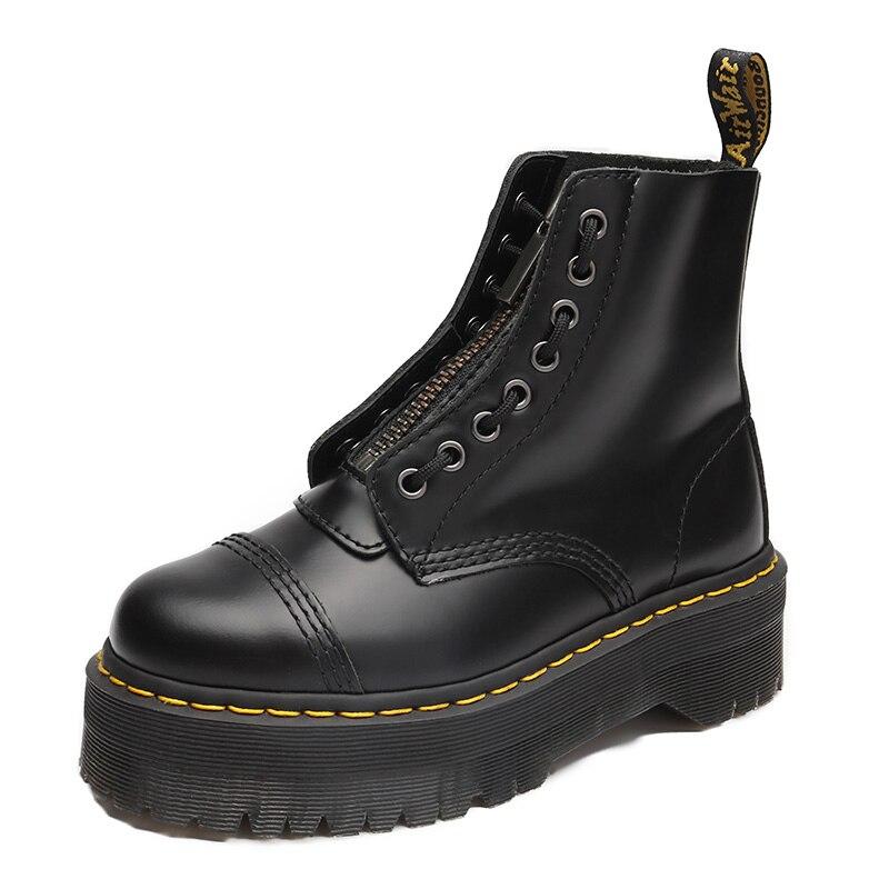 Martens Boots 8-hole High Platform Martin Boots Women Retro Lace-up Boots Men Women Ankle Boots