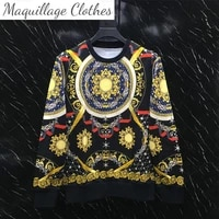 autumn chic mens retro print casual sweatshirts high quality designer o neck hoodeies tops c252