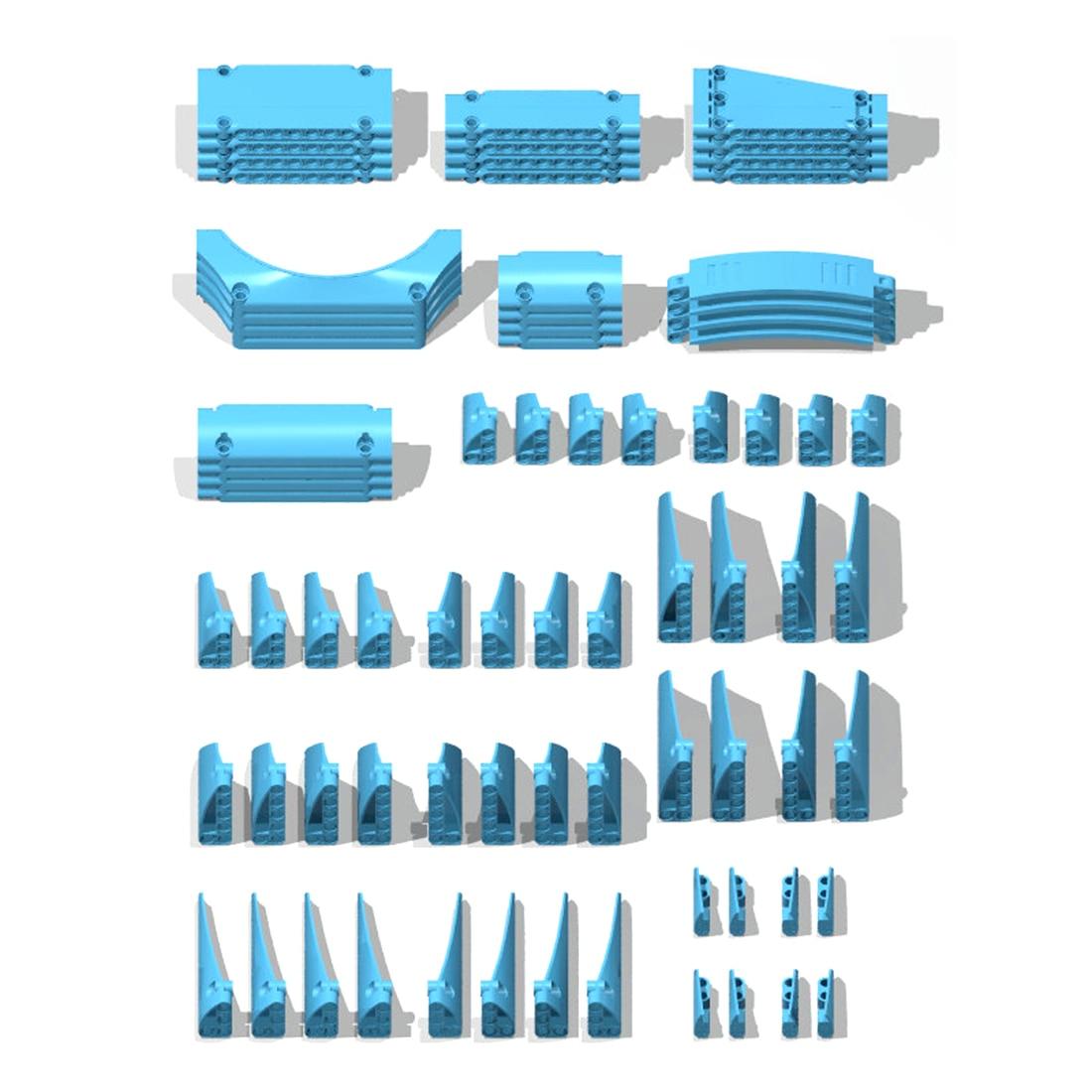 DIY Educational high-tech Parts Panel Parts For Standard Building Block Brands Toys - Sky-Blue/Dark Blue/Yellow/Red/Black/Orange