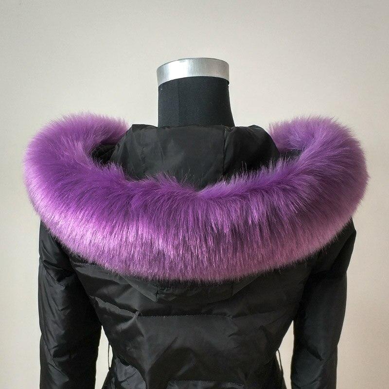 2020 Women Faux Fox Collar Winter Jackets Coat Fur Scarf Decor DIY multicolor Fur Shawl Men Kid Scarves Luxuriant Fashion ZKG13