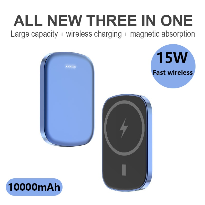 10000mAh Magnetic Wireless Power Bank For Magsafe powerbank 15W Charger For apple iphone12 12pro max External auxiliary battery