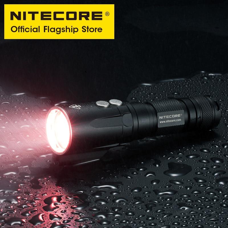 NITECORE DL20 Scuba Diving Light White Red Light LED Olight Flashlight Camping Underwater Lanterna 18650 Battery 1000 lumens enlarge