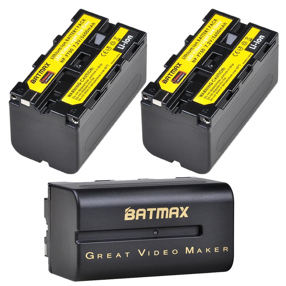 Batmax NP-F750 NP-F770 NPF750 batería Li-Ion para Yongnuo Godox luz LED para vídeo YN300Air II YN300 III YN600 aire L132T L116T