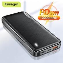 Essager PD 20W 10000mAh Power Bank Portable Charging External Battery Charger 10000 mAh Powerbank Fo