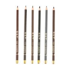 1PCS Beauty Waterproof Long Lasting Eye Brow Pencil 6 Color Brow Enhancer Pencil With Brush Women Ma