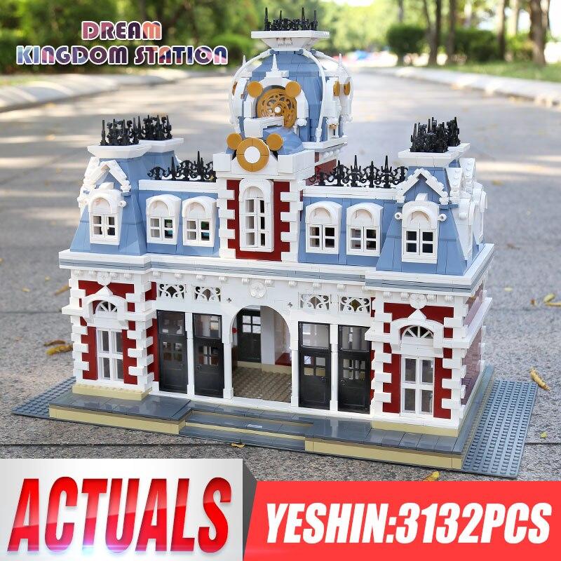 MOC Yeshin 11004 Streetview Station of The Creamland Kits de modelos de montaje de bloques de construcción juguetes como regalos de Navidad para niños
