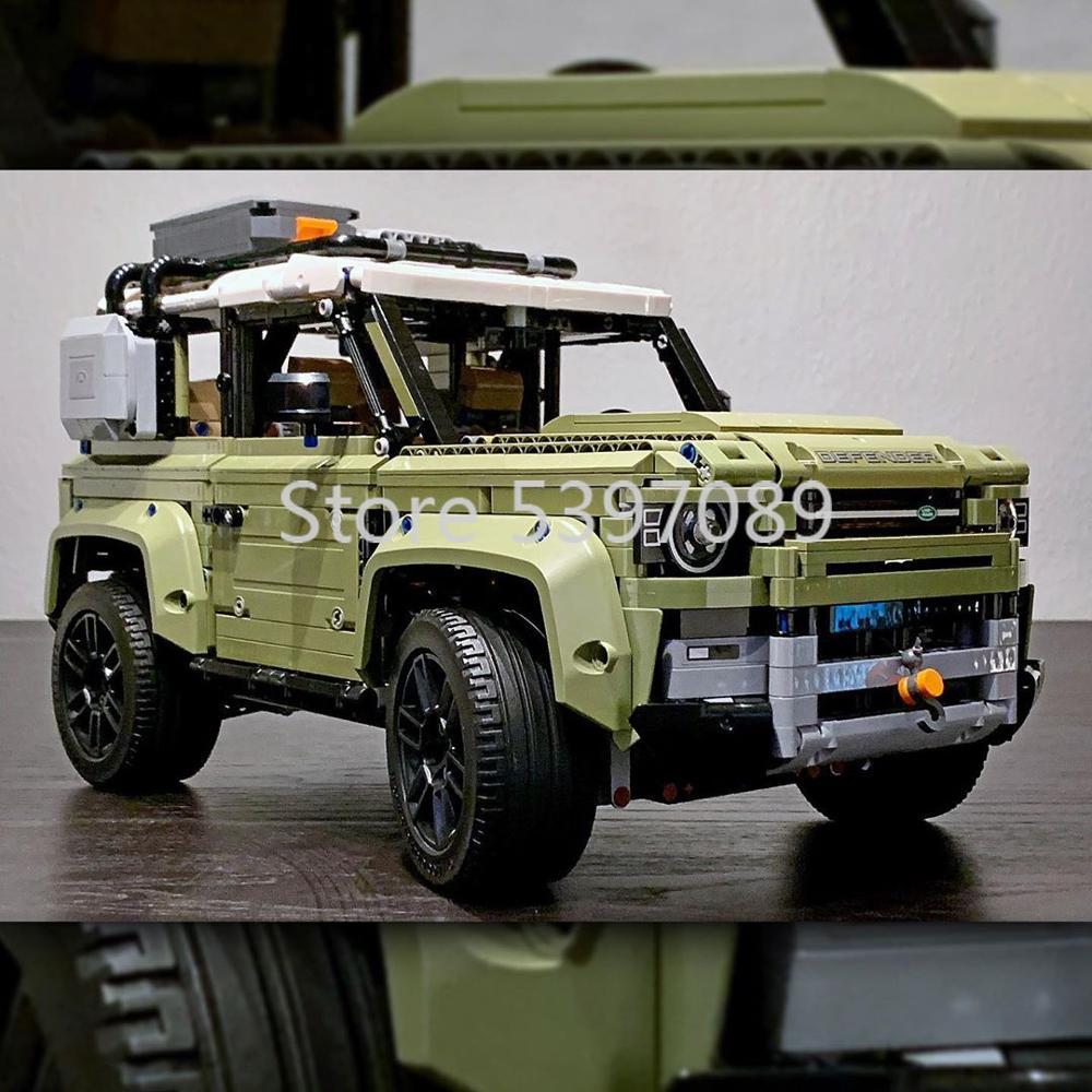 En existencia 93018 bloques de construcción técnicos para coches Land Rover Defender Compatible con Legoing 42110 regalo para niños