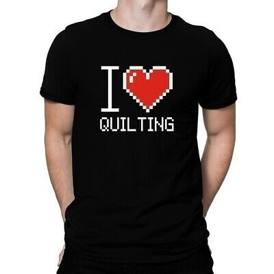 I love Quilting pixelated T-shirt