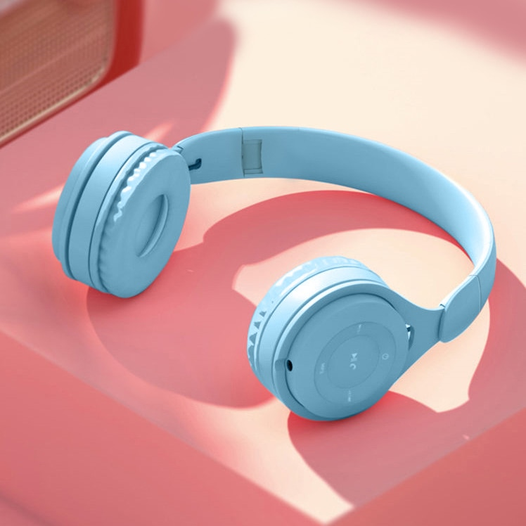 Foldable Bluetooth Headphone Wireless Headsets  support TF Card audio aux wired for Phone pc Gaming Earphone kids children gift enlarge
