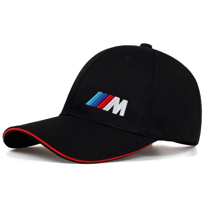 Moda masculina algodão logotipo do carro m desempenho boné de beisebol esporte ao ar livre pai chapéu para algodão moda hip hop boné de osso gorras