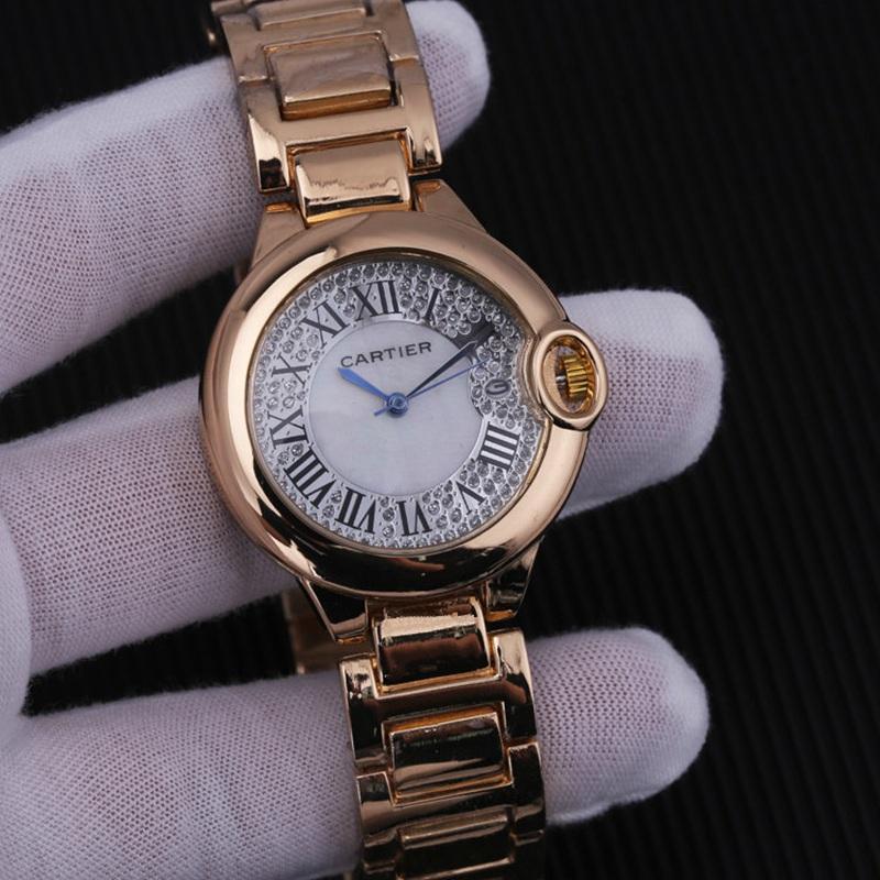 Relojes de cuarzo de marca de lujo para hombre y mujer, reloj de cuarzo con correa de acero inoxidable, reloj de pulsera para hombre, Reloj clásico de negocios para hombre 33