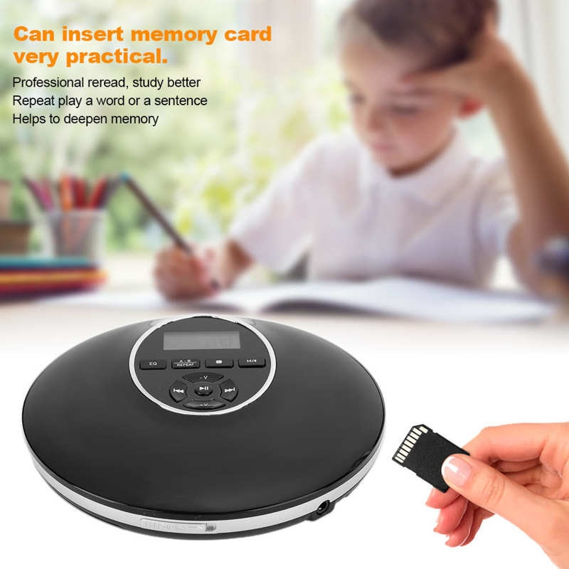 Portable Mini Bluetooth CD Player MP3 New Upgrated Personal Walkman Multiple Power Supply Charging for Baby Language Learning enlarge