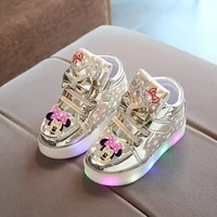 disney childrens cartoon non slip soft soled short boots sequin fashion boots casual shoes girls led boots