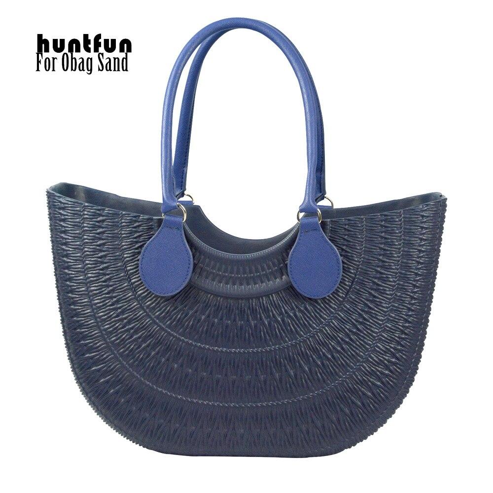 huntfun New Obag sand Body with Round Belt Handle with D buckle DIY waterproof bag rubber silicon O sand O bag women handbag