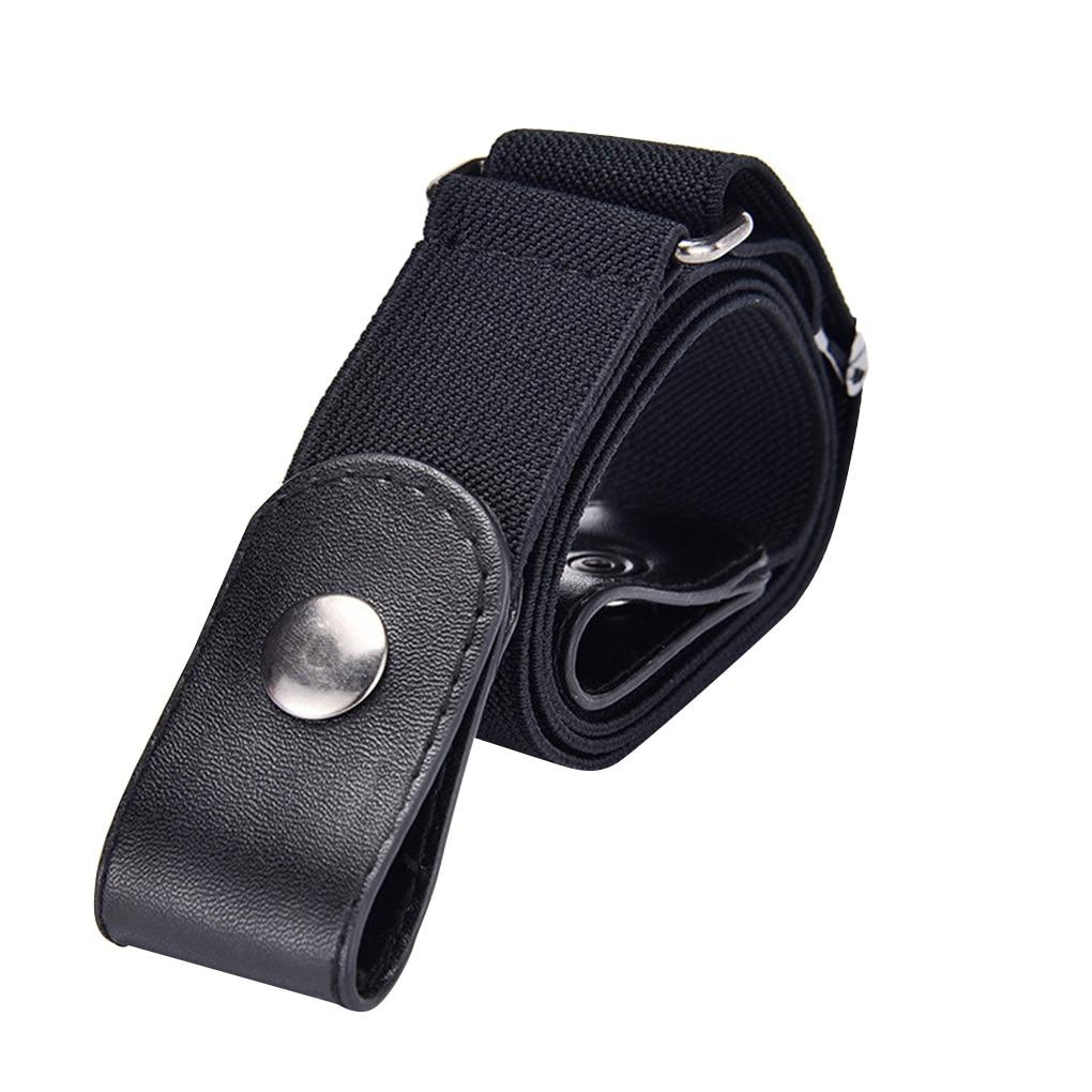 Elastic Invisible Belt Woven Fabric Traceless Unisex Waist Belt Fashionable Jean Belt Easy Belt With