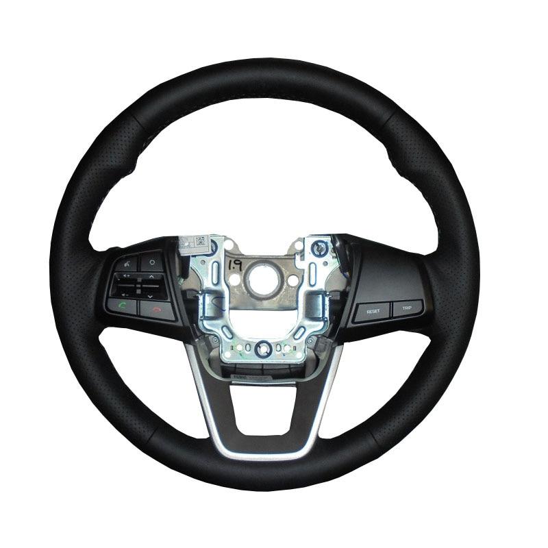 DIY de Couro Genuíno Carro Cobertura de Volante Para Hyundai ix25 2014 2015 2016 Creta 2016 2017/Proteger O Volante