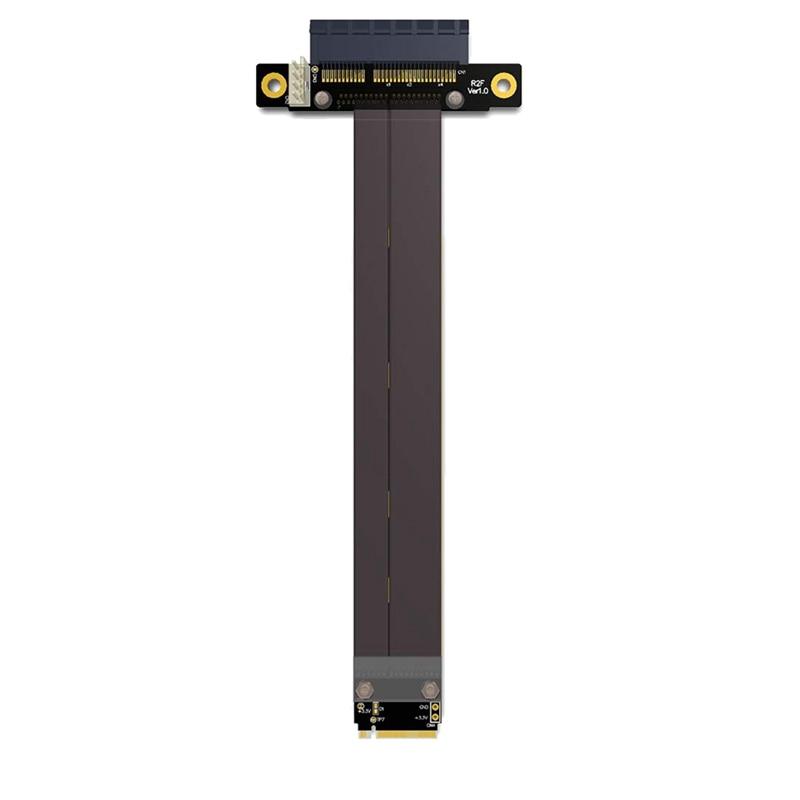 PCIe X4 3.0 PCI-E 4X إلى M.2 NGFF NVMe M مفتاح 2280 بطاقة الناهض Gen3.0 كابل M2 مفتاح-M PCI-Express تمديد الحبل 32G/BPS