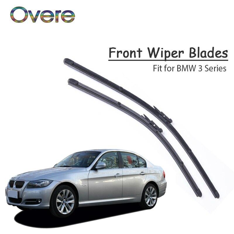 1 Juego de goma del coche Kit de limpiaparabrisas delantero para BMW F30 E46 E90 E91 E92 E36 E93 F31 BMW Serie 3 parabrisas delantero Accesorios