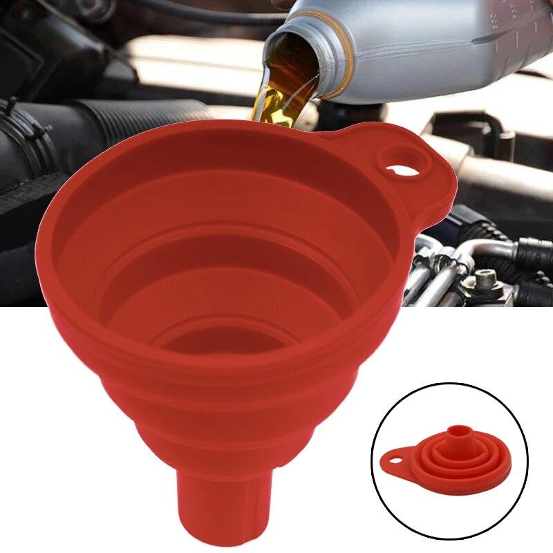 Автомобильный мини-Силиконовый складной воронка для двигателя бензинового масла топливного наполнения переносные инструменты Складные п...