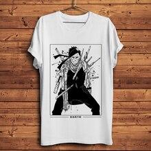 mist Demon Momochi Zabuza cool Naruto anime t-shirt homme summer short sleeve t shirt men white casual tshirt unisex streetwear