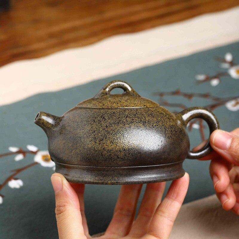 Yixing-طقم شاي من الطين الأرجواني ، نصف قمر ، صناعة يدوية ، سعر خاص