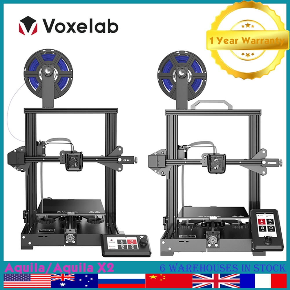 Voxelab Aquila 3D Printer High Precision FDM Impressora 3d for Home Use 220*220*250mm Ultrabase Building Bed Resume Printing