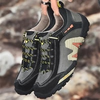 new mountain cross country running shoes non slip low top matte leather mens shoes wear resistant outdoor mountaineering travel