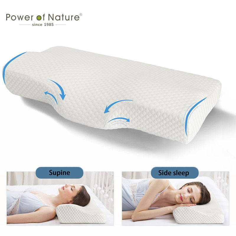 احيط وسادة فوم للإغاثة من ألام الظهر وسادة لألم الرقبة الاسترخاء الجانب النوم مريح وسادة عنق الرحم الرعاية الصحية فراشة الوسائد