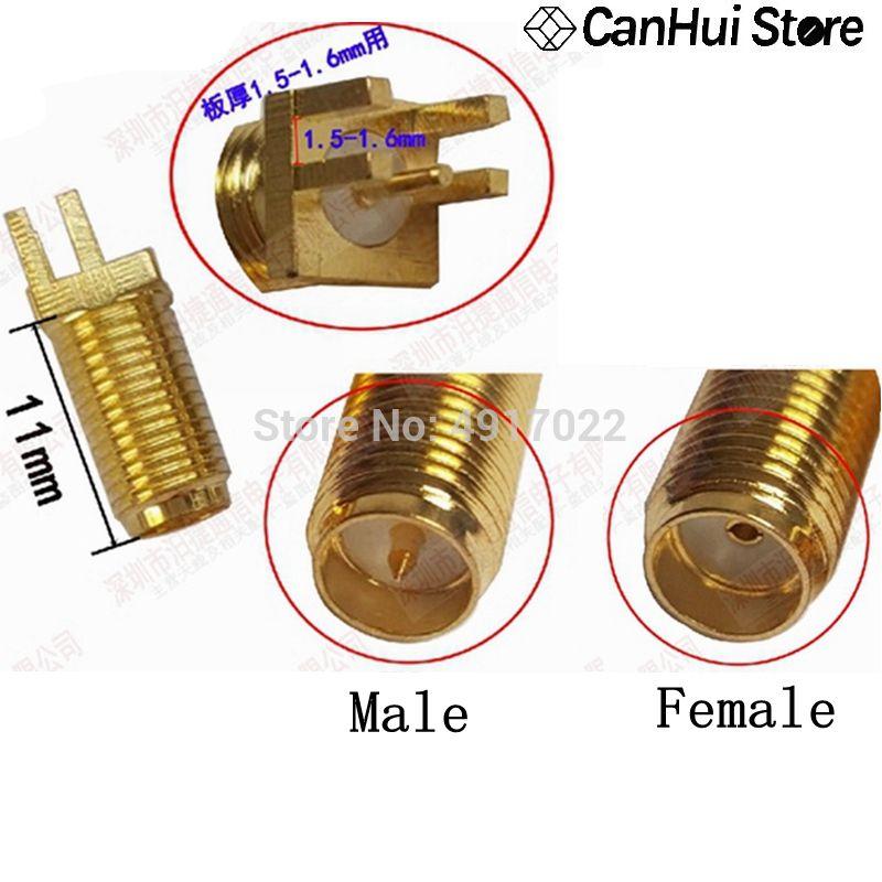 10 Uds SMA hembra o RP-SMA hembra (pin macho) Conector de tuerca...