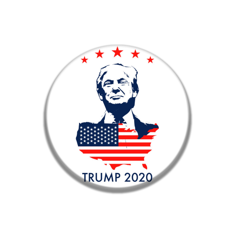 PIN de cristal Chapado en plata para el cuello de Donald Trump, Donald Trump, gran broche de recuerdo de Estados Unidos de 2020