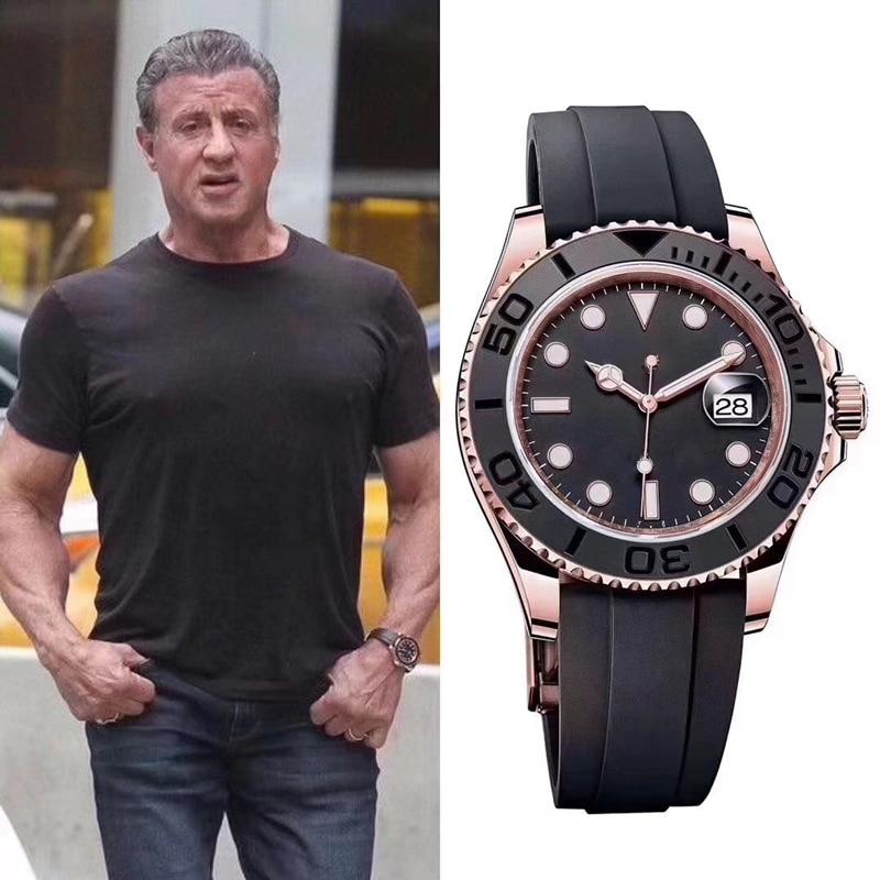 ساعة رجالي ماركة فاخرة ساعة كوارتز جودة عالية الدقة ساعة رجالية موضة إكسسوارات ساعة ميكانيكية رياضية كلاسيكية