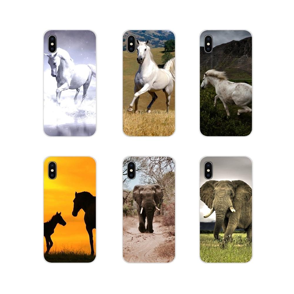 Funda de silicona para teléfono con diseño de caballos y elefantes para Xiaomi Redmi Note 3 4 5 6 7 8 Pro Mi Max Mix 2 3 2S Pocophone F1
