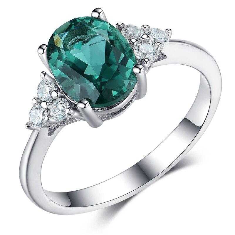 Anillo de Plata de Ley 925 con gema en forma de corazón cristal rubí piedra sintética romántico amor Token eternidad anillo joyería clásica