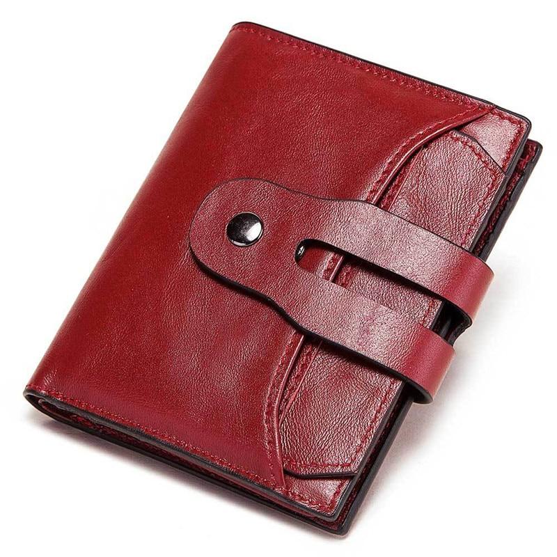 محفظة من الجلد الطبيعي مضادة Rfid للرجال والنساء ، محفظة صغيرة للعملات المعدنية ، حقيبة نقود ، بطاقة مصممة عالية الجودة ، 100%