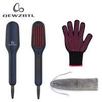 Ionic Hair Straightener Brush,  MCH Ceramic Heating  LED Display  Adjustable Temperatures  Anti Scald Hair Straightening Brush