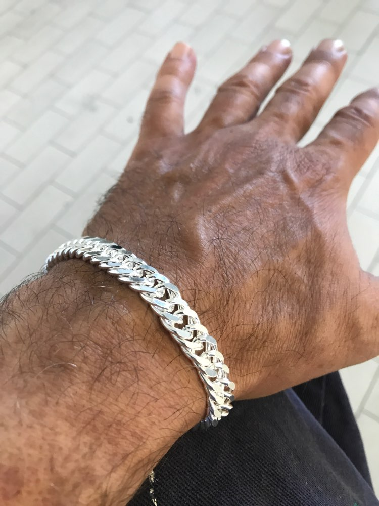 10mm marido pulseiras presentes banhado a prata feminino corrente pulseira moda masculino jóias bonito masculino pulseira