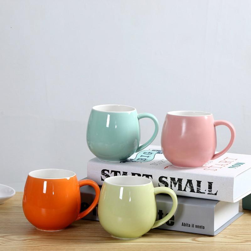 Originality Ceramics Coffee Cup Big Belly Cup Breakfast Milk Cappuccino Latte Coffee Glass Advertisement Gift Fruit Juice Cup