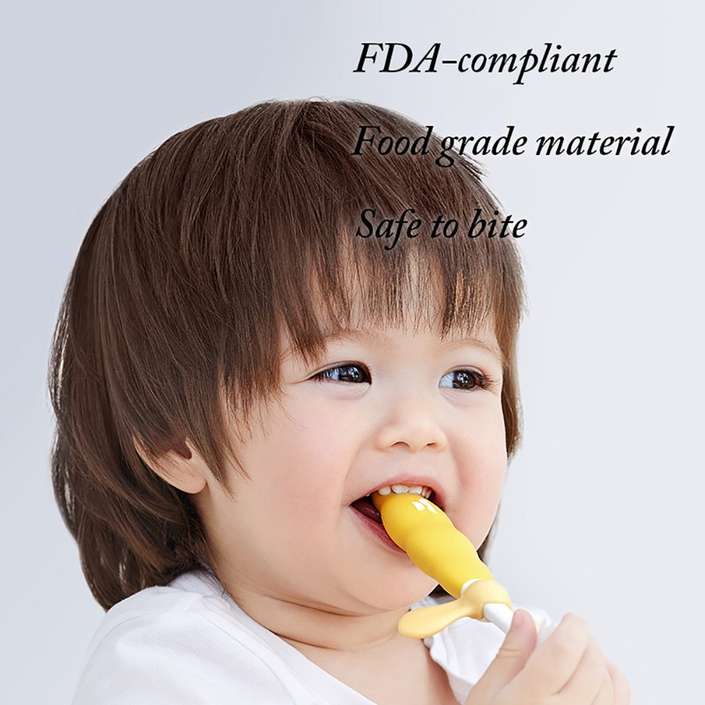 1/2pcs Kids Soft Training Toothbrush Children Non-Slip Tooth Brush Baby 3-Stage Safety Dental Oral Care Tools